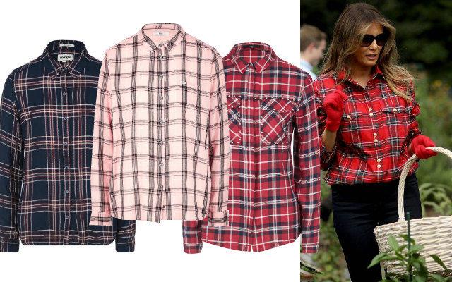 7 клетчатых рубашек до 3000 рублей, как у Меланьи Трамп