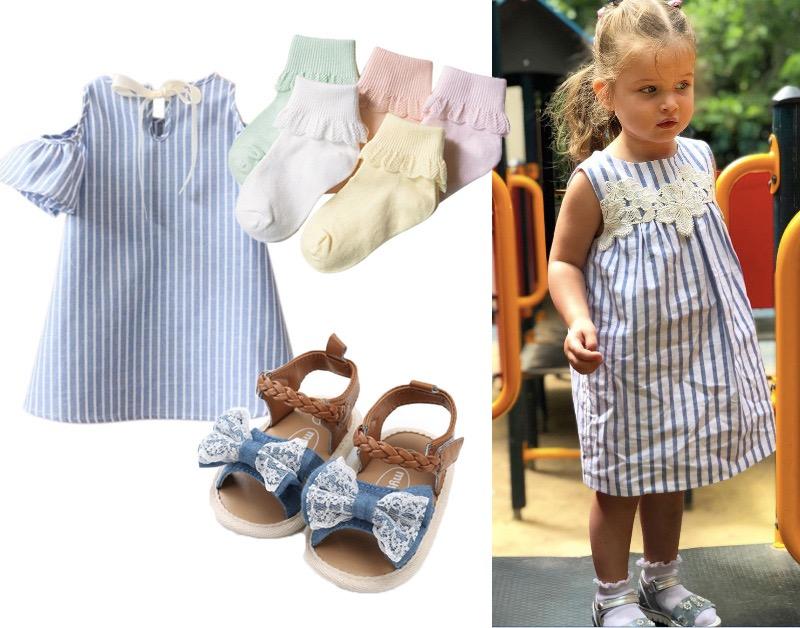 4 готовых летних образа для ребенка до 3000 рублей